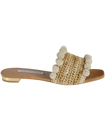 Beżowe sandały Aquazzura