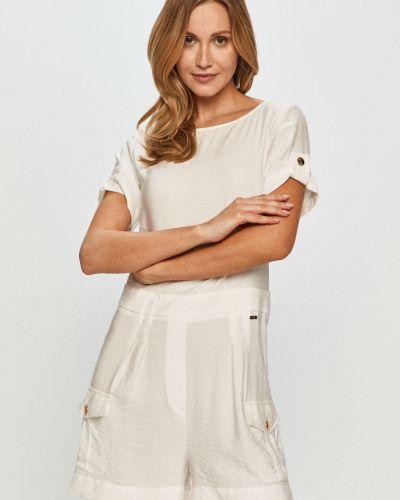 Biały kombinezon krótki materiałowy Armani Exchange