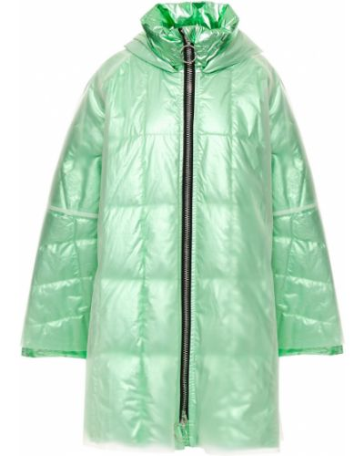 Стеганое пуховое пальто мятное Ienki Ienki