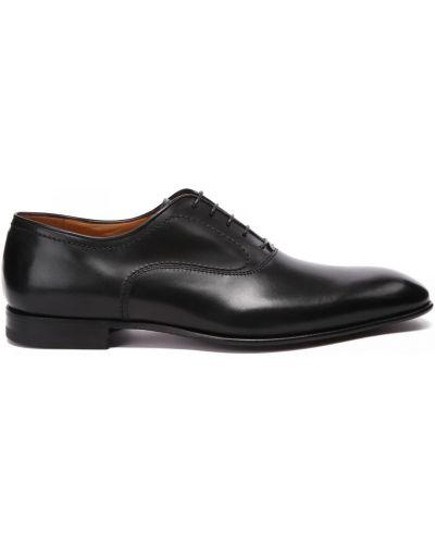 Кожаные туфли закрытые круглые Fabi