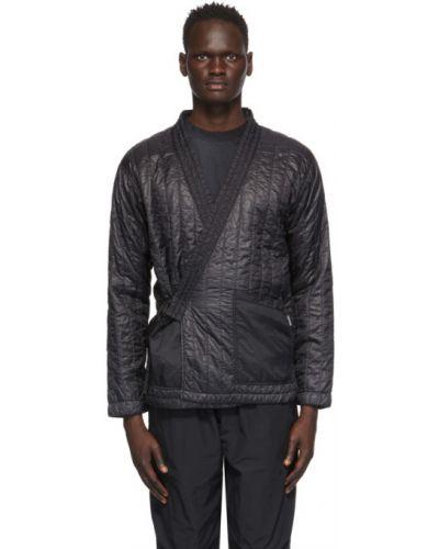 Czarna kurtka pikowana z nylonu Nemen