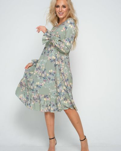 Платье на торжество на резинке с оборками свободного кроя Leleya