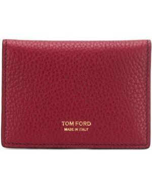 Кошелек с логотипом красный Tom Ford