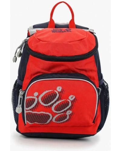 Рюкзак кожаный красный Jack Wolfskin