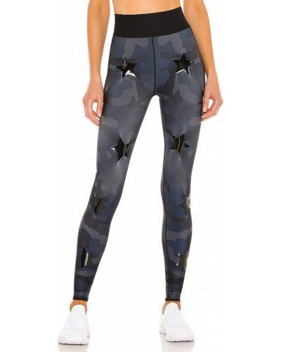 Niebieskie legginsy z paskiem z nylonu Ultracor