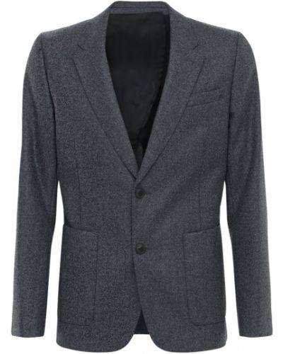Ciemno szary wełniany kurtka z mankietami z kieszeniami Ami Alexandre Mattiussi