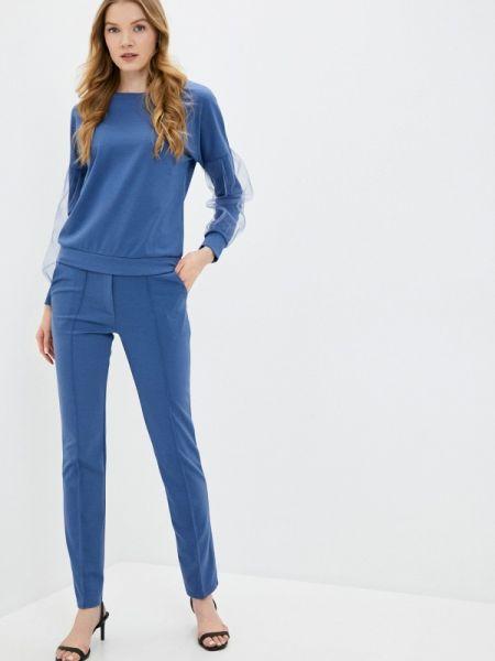 Синий облегающий костюмный брючный костюм Xarizmas