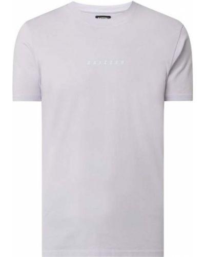 Fioletowy t-shirt bawełniany z printem Raizzed