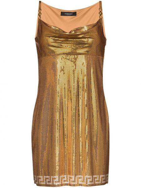 Платье мини с воротником Versace