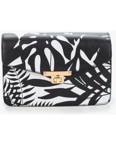 Черная кожаный сумка Zarina