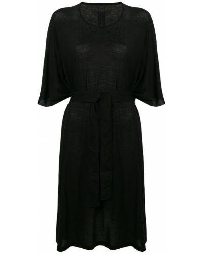 Платье с поясом футболка с вырезом Rick Owens Drkshdw