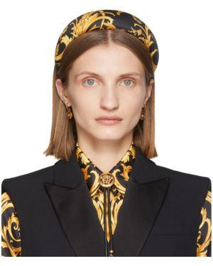 Ободок на голову черный Versace