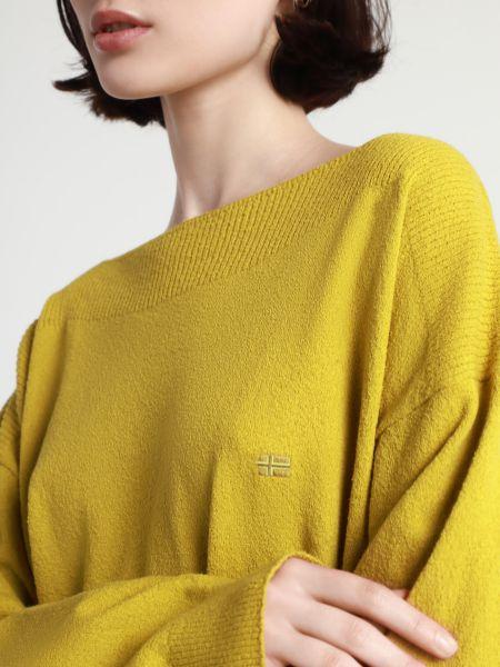Свободный желтый свитер с воротником Napapijri