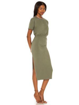Sukienka midi bawełniana - zielona Lovers + Friends