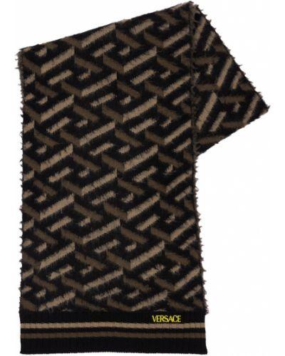 Szalik wełniany - khaki Versace