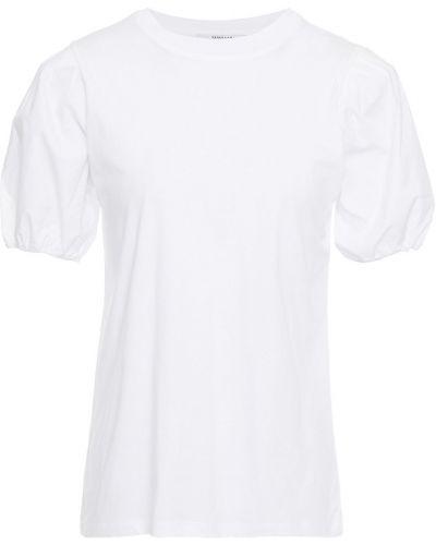 Ватная хлопковая белая футболка Derek Lam 10 Crosby