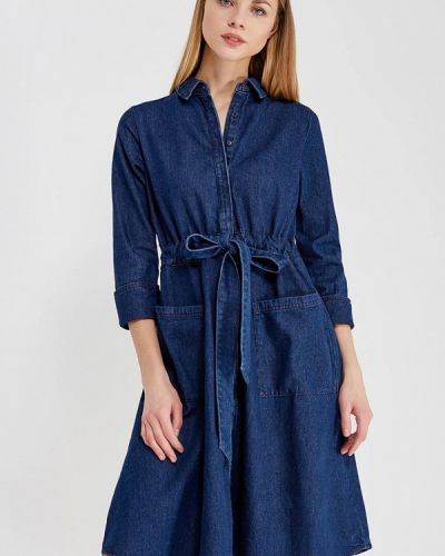 Синее джинсовое платье Lost Ink.