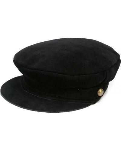 Czarna czapka skórzana Lack Of Color