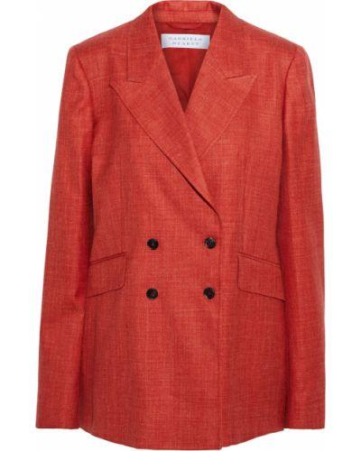 Льняной пиджак двубортный с карманами Gabriela Hearst