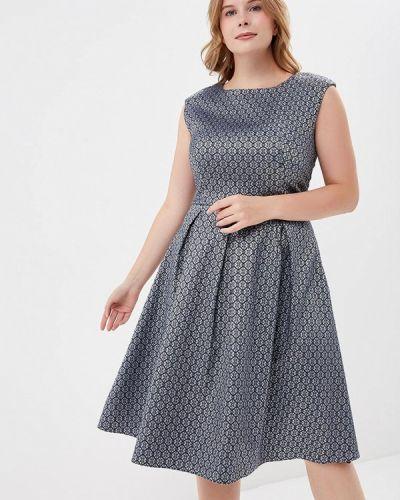 Платье серое осеннее S&a Style