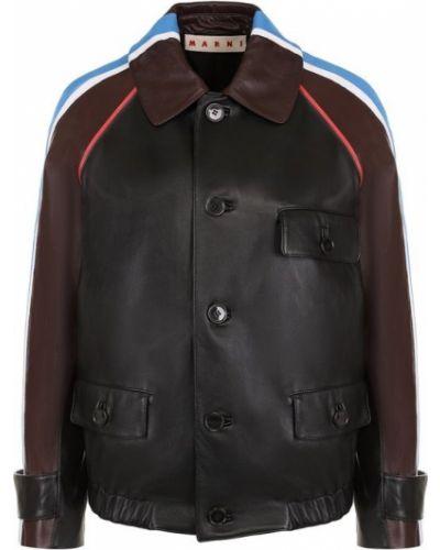 Куртка с поясом в полоску Marni