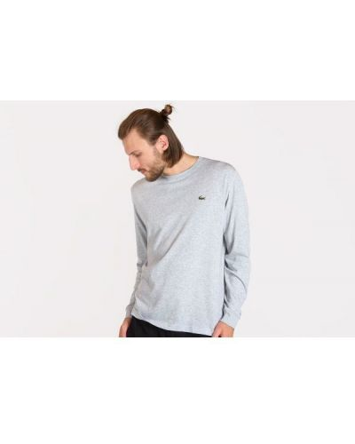 T-shirt bawełniana - szara Lacoste