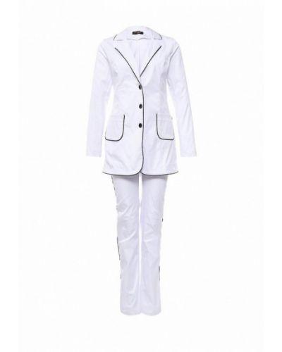 Брючный костюм домашний белый Sk-house
