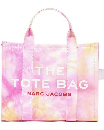 Torba na ramię z paskiem - różowa Marc Jacobs