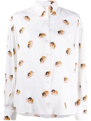 Рубашка с длинным рукавом - белая Fiorucci