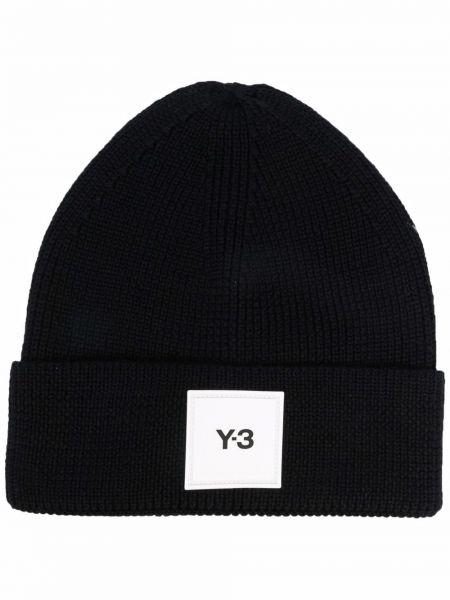 Шерстяная шапка бини - черная Y-3