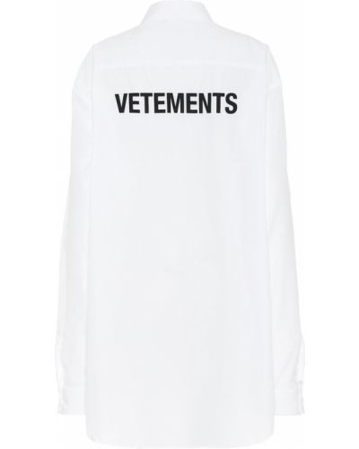 Ватная хлопковая белая рубашка Vetements