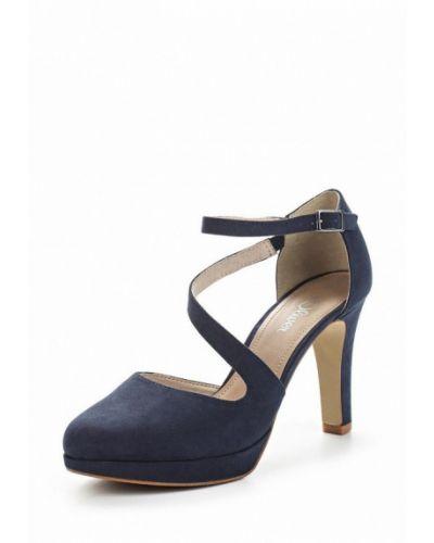 Синие туфли с застежкой на лодыжке S.oliver