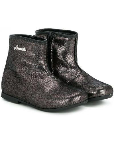 Ботинки кожаные черные Simonetta