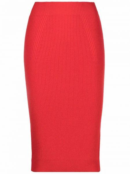 Юбка карандаш - красная Laneus