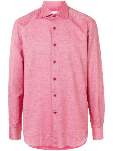 Różowa koszula bawełniana zapinane na guziki Stefano Ricci