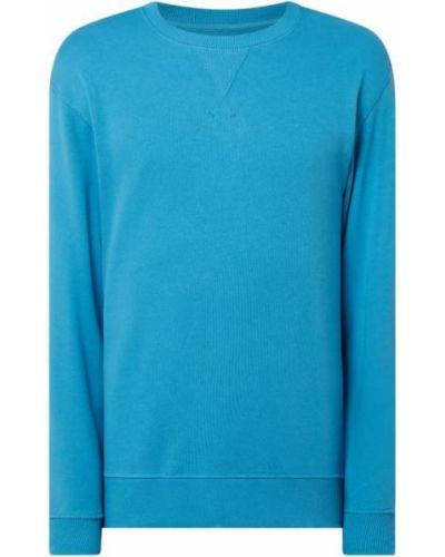 Prążkowana bluza bawełniana turkusowa Selected Homme