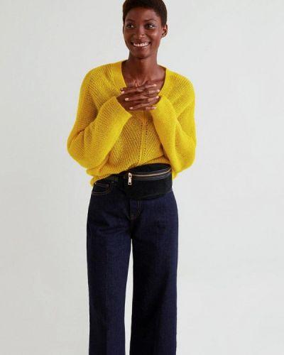 Желтый пуловер 2018 Mango