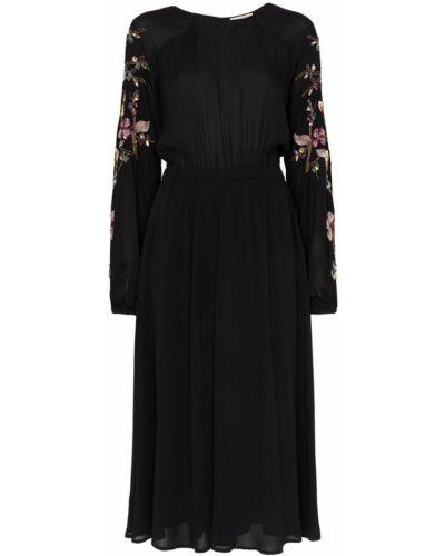 Платье мини с пайетками с вырезом эластичное By Timo