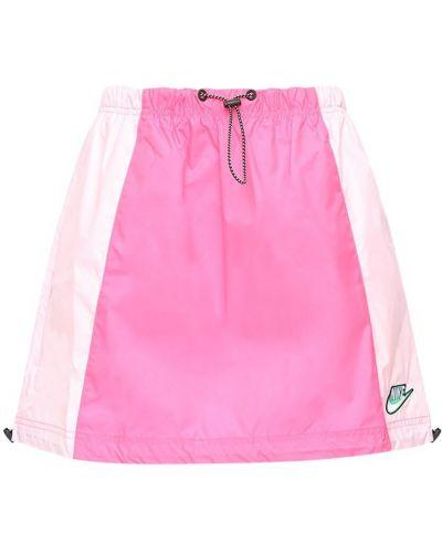 С кулиской розовая юбка мини на резинке Nike