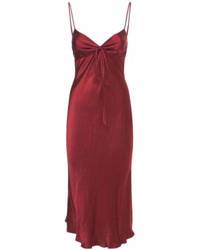 Satynowa sukienka midi Bec & Bridge