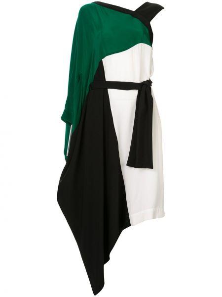 Асимметричное шелковое платье с вырезом Taylor