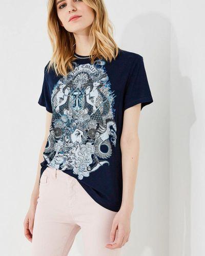 Синяя футболка Just Cavalli