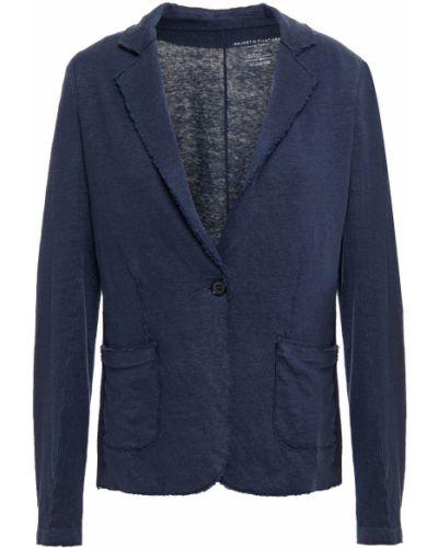 Трикотажный пиджак с карманами с заплатками Majestic Filatures