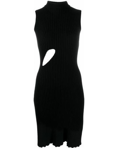 Платье в рубчик с вырезом Mm6 Maison Margiela