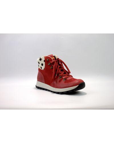 Ботинки длинные - красные Olang