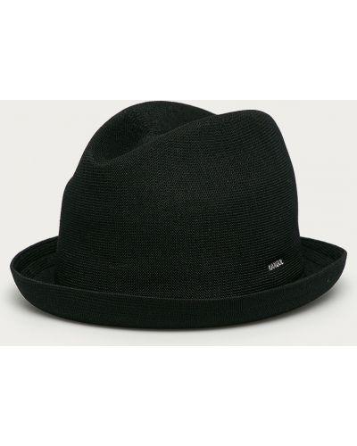 Czarna czapka z akrylu Kangol