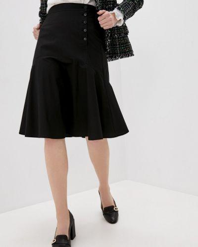 Черная юбка свободного кроя Gerard Darel