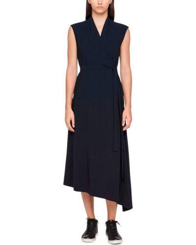 Czarna sukienka kopertowa miejska Sarah Pacini