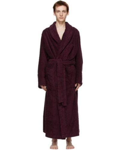 Fioletowy z rękawami bawełna szlafrok Tekla