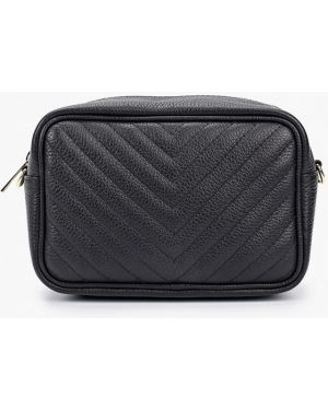 Кожаная сумка через плечо черная Pulicati